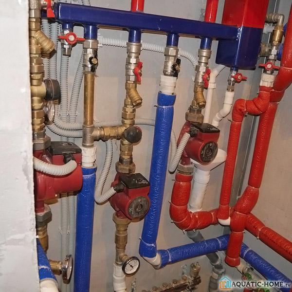 Пример установки насосов в бытовых системах