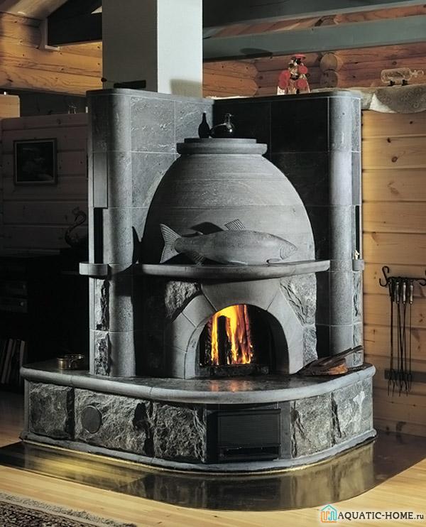 Каменная печь-камин