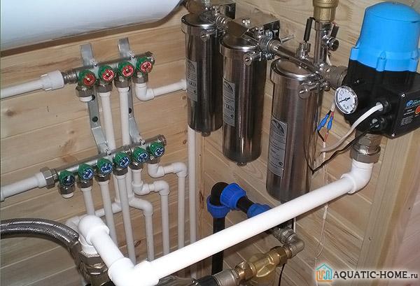 Система фильтрации, обслуживающая весь дом