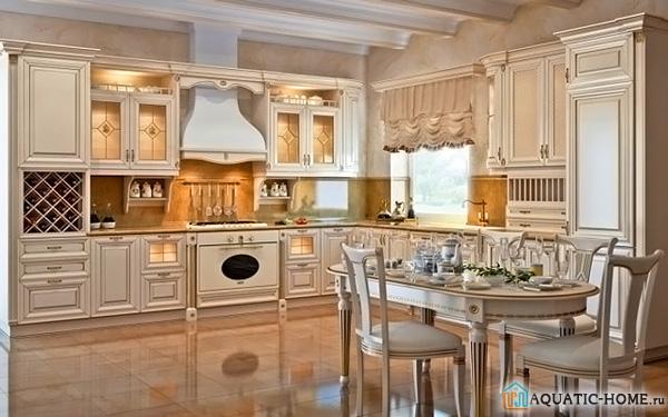 Купольное устройство на большой кухне