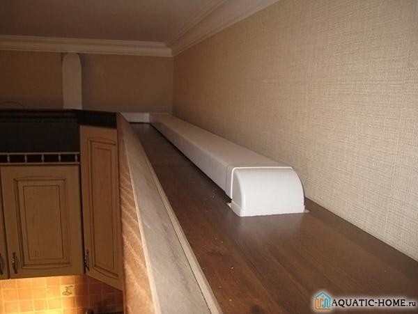 В условиях ограниченного пространства рациональнее всего использовать воздуховоды прямоугольного сечения