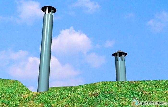 Трубы находятся на нужном расстоянии от земли