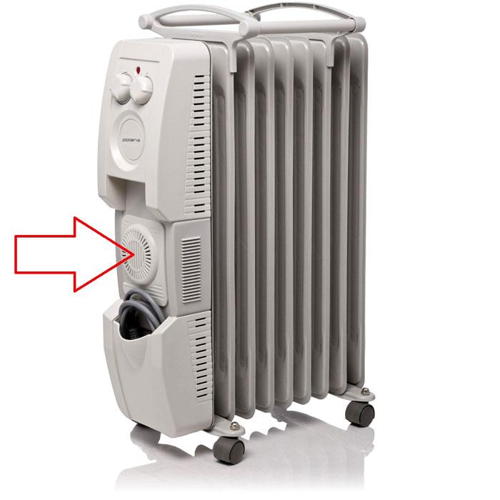 Для ускорения нагрева воздуха используют масляныеэлектрообогреватели с вентилятором