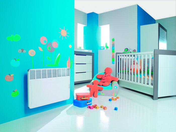 Энергосберегающие обогреватели безопасны, поэтому и можно устанавливать в детской комнате