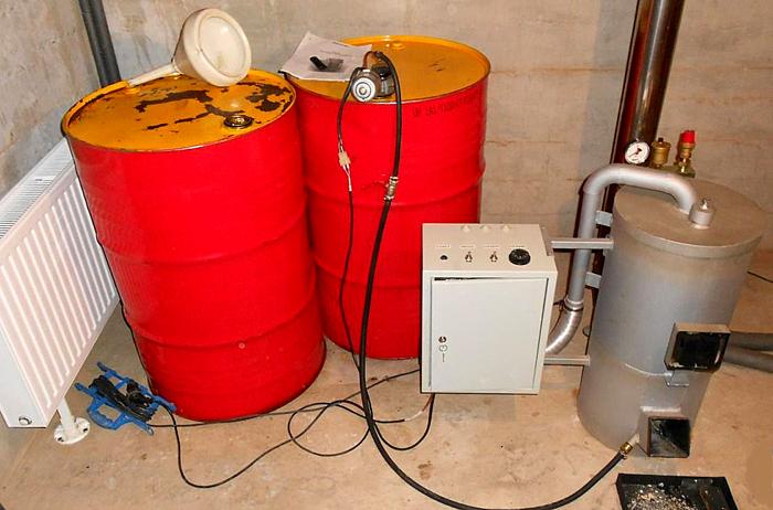 Самодельные отопители на отработке менее капризны к качеству топлива
