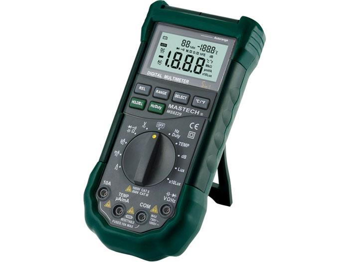 Хорошо оснащенная модель MS8229 рекомендуется для профессиональных работ