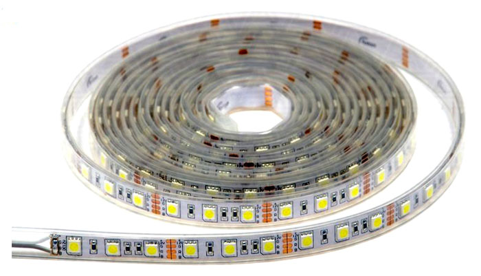 Насыщенность и яркость цвета зависит от количества диодов, расположенных на одном метре изделия
