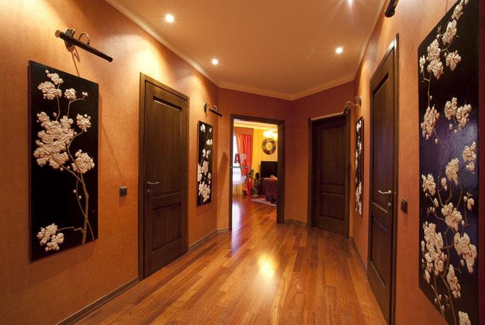 Освещенные панно в коридоре - настоящее украшение интерьера