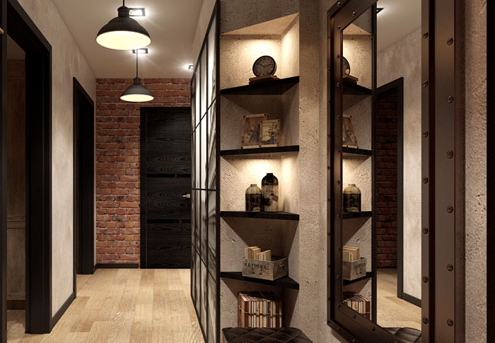 Освещение шкафа спотами