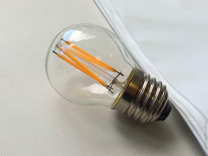 Светодиодный прибор, имитирующий классическую лампу накаливания