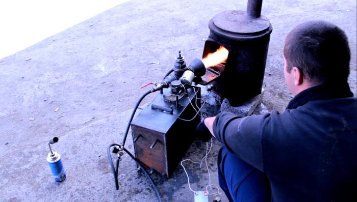 Печка на солярке своими руками 73