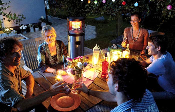 Инфракрасными обогревателями можно пользоваться на улице в прохладные вечера