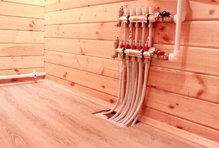 Монтаж теплый пол в деревянном доме