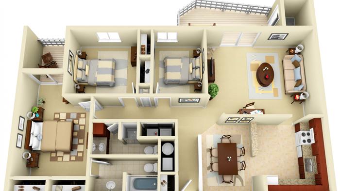 Если жилая площадь достаточно большая, то можно установить несколько приточных конструкций