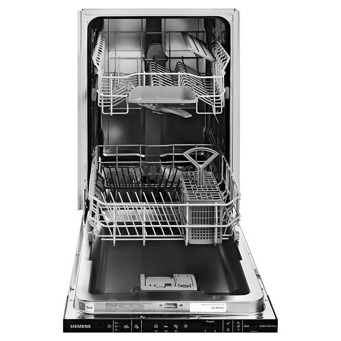 Внутри посудомойки функциональные отделения