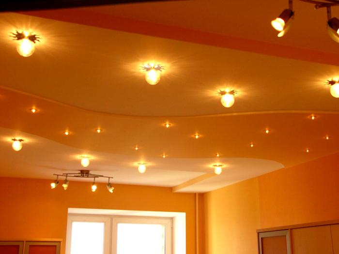 Варианты потолочного освещения в детской комнате