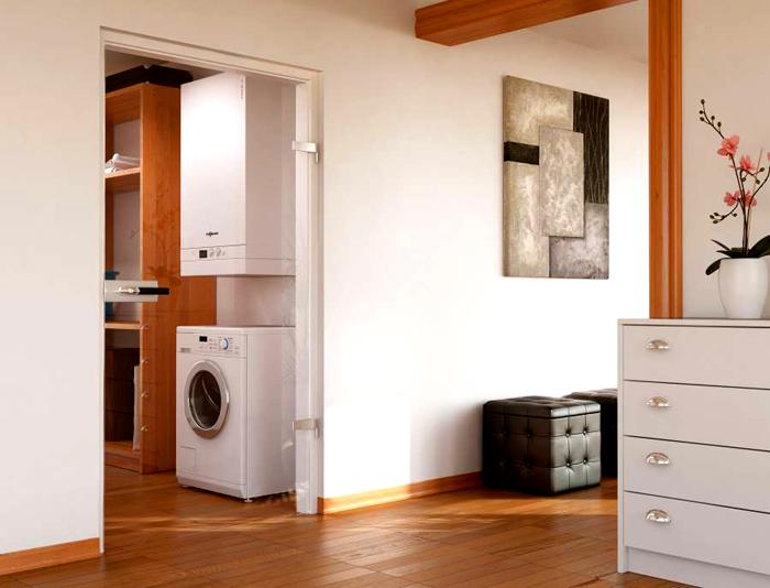 Настенный двухконтурный котел отлично смотрится в интерьере квартиры