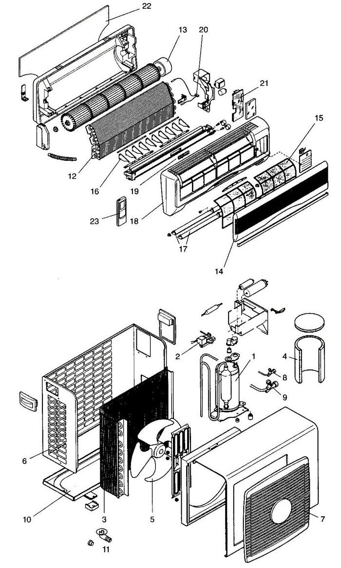 Схемы устройства двух главных элементов