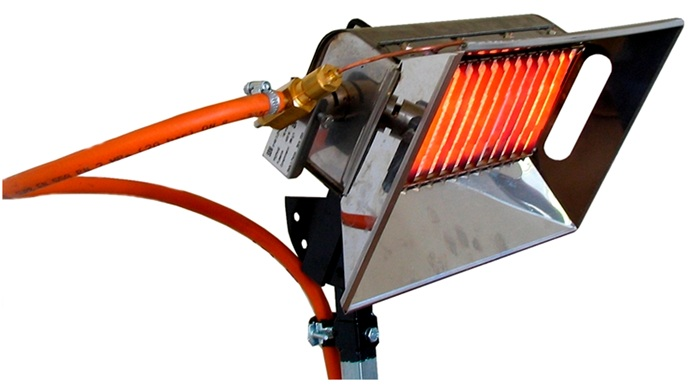 Подобное устройство не распространяет в воздухе вредные продукты сгорания