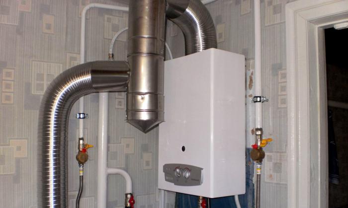 Вариант дымохода для открытой камеры горения