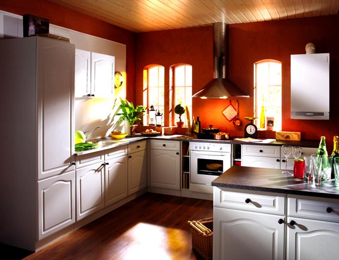 Прекрасно вписывается в интерьер кухни