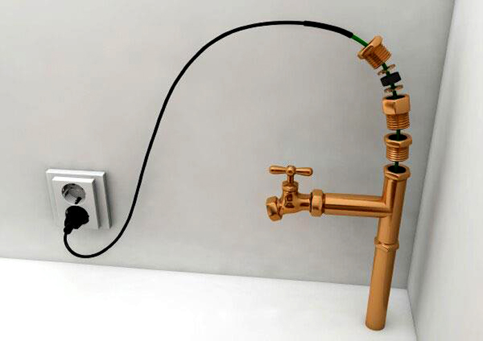 Ввод в систему водопровода