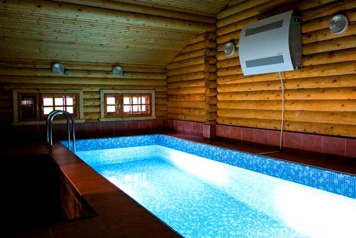 Вариант установки для бассейна