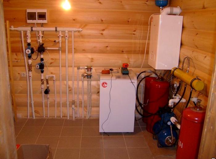 Вариант монтажа газового отопления