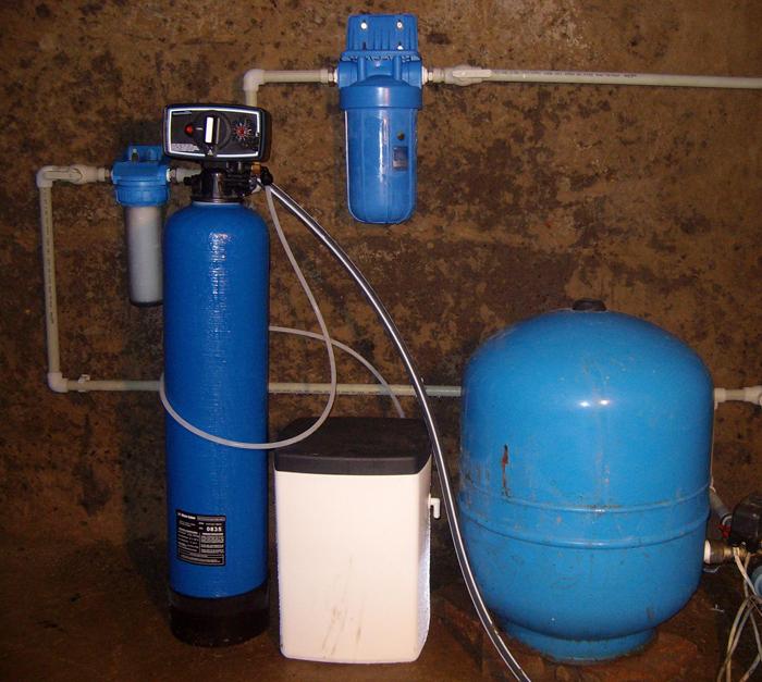Вариант системы фильтрации состоящей из разного класса приборов
