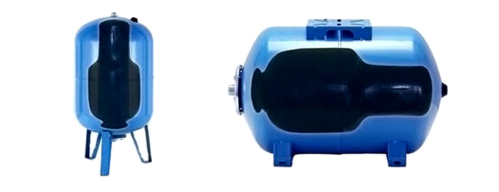 Гидроаккумулятор со сменной мембраной в разрезе