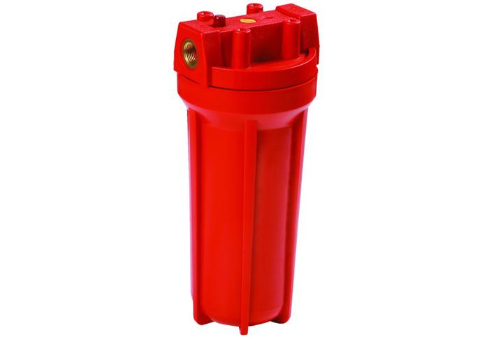 Красный цвет устройства под горячую воду