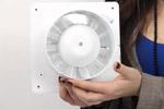 Вентилятор для ванной бесшумный с обратным клапаном.