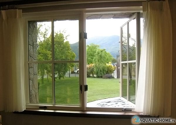 Проветривание открытыми окнами