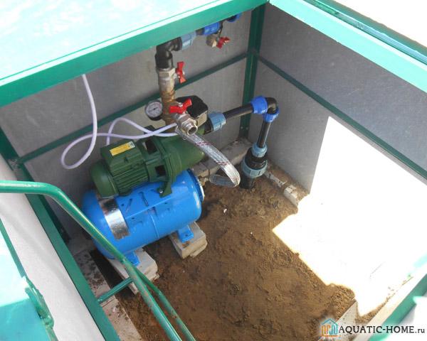 Оборудование, установленное в кессоне