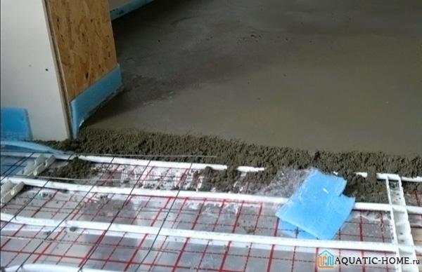 Устройство стяжки под водяной теплый пол