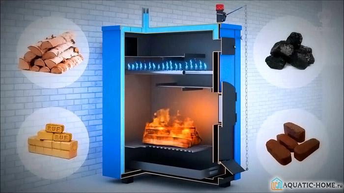 При помощи двухконтурного агрегата обеспечивается подача горячей воды