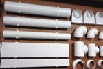 Воздуховоды пластиковые для вентиляции.