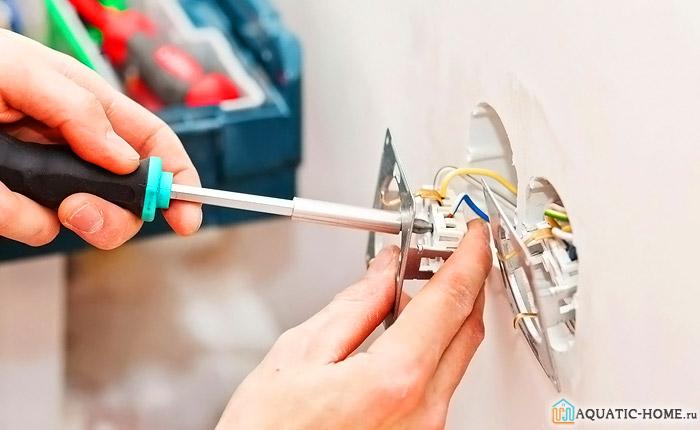 Диммеры для светодиодных ламп 220В устанавливают при отключенном питании