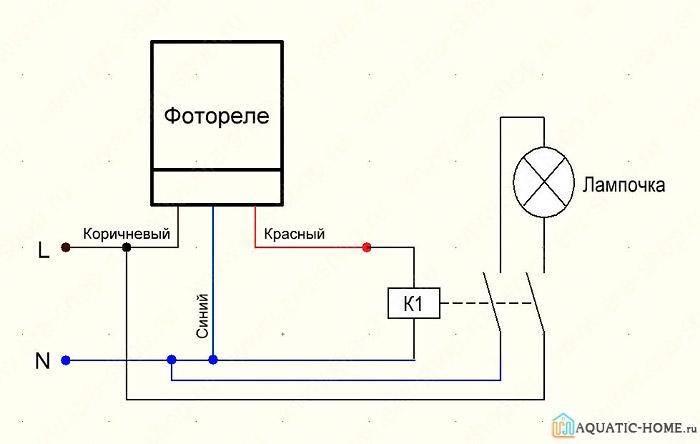 Схема подключения с использованием контактора