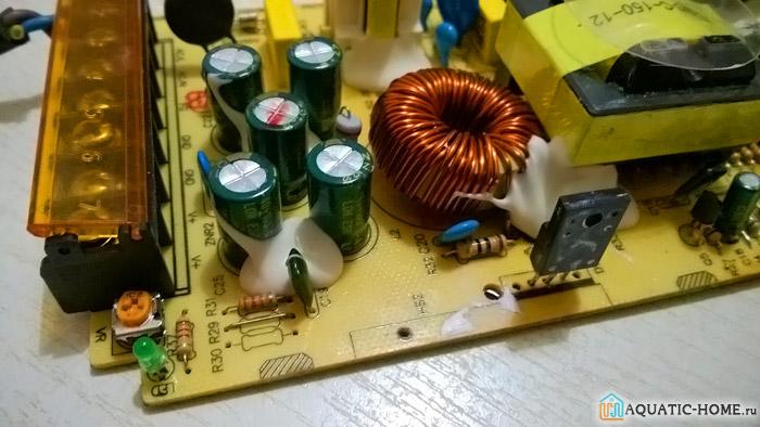 Микросхема готового прибора выглядит так