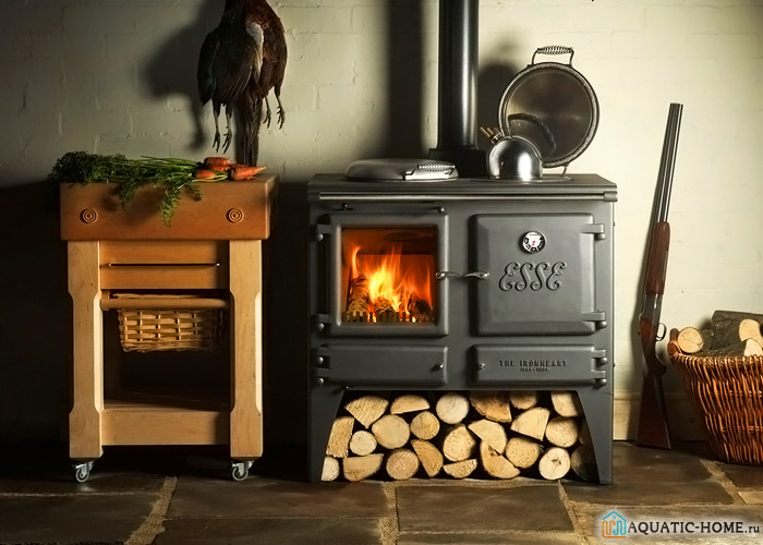 В помещении установлена модель с медленным сжиганием топлива