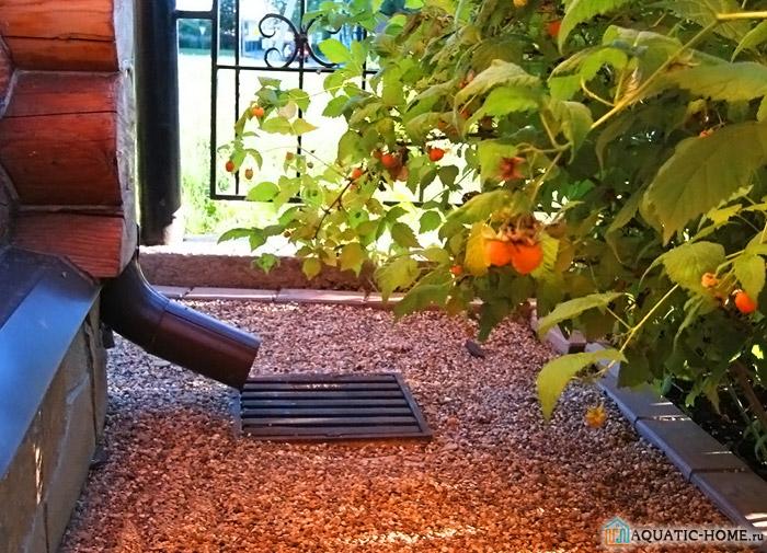 Отмостки из щебня вместе водостоком и емкостью для стока воды представляют собой придомовую систему