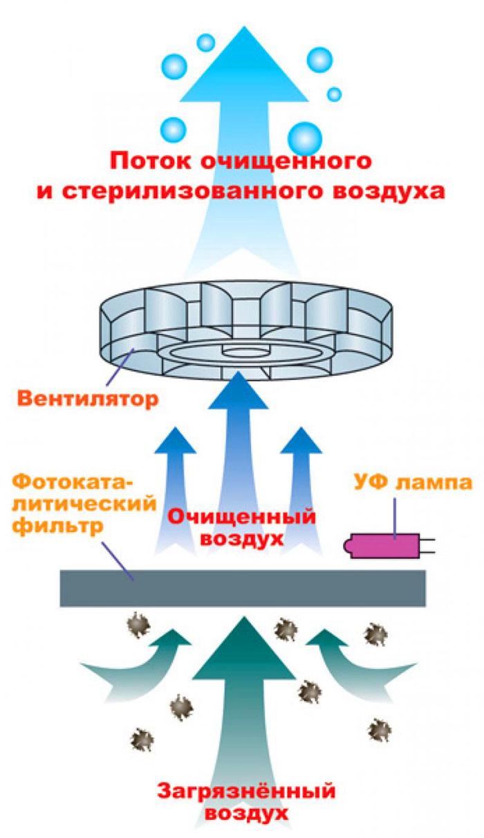 Очиститель с фотокатализатором: устройство и принцип работы