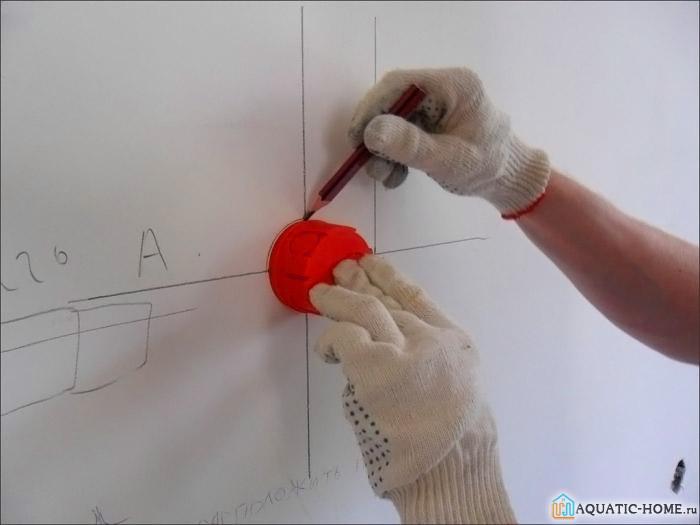 Пример разметки стен