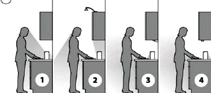 Разные варианты установки светильников