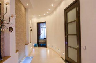 Освещение коридора, фото