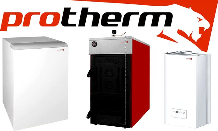 Модели оборудования Protherm