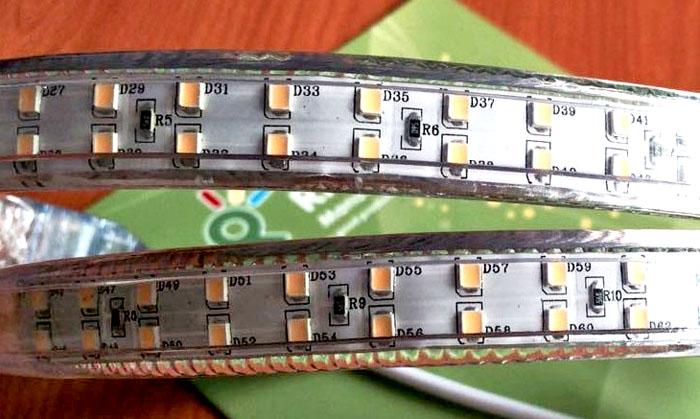Двухрядное размещение диодов для создания интенсивного источника света