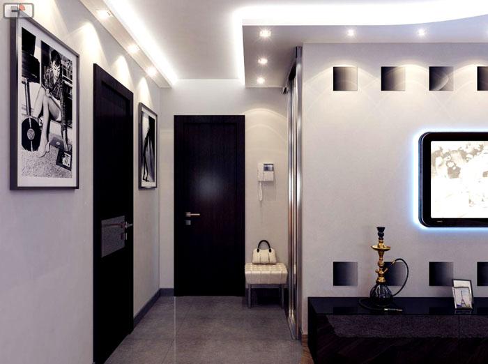 Встроенные лампы могут «приподнять» потолок и полностью осветить пространство