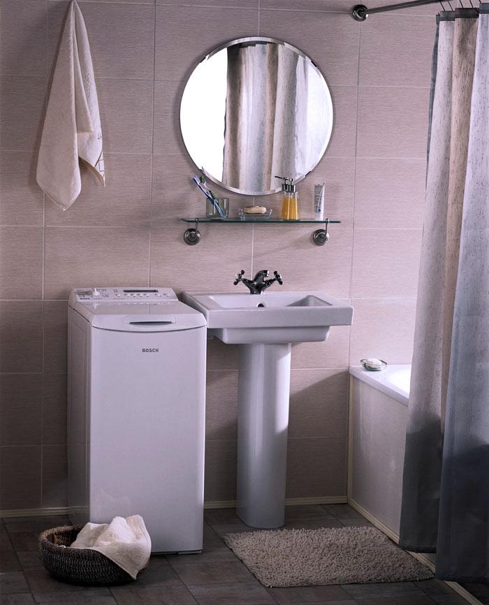 Узкая модель занимает минимум места в ванной комнате